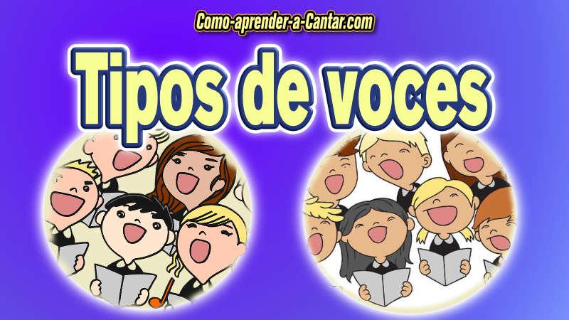 tipos de voces, coro, niños, jovenes