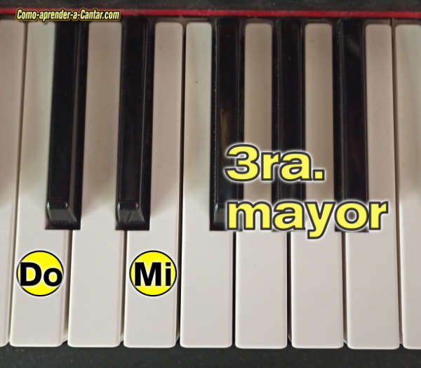 afinacion para cantar intervalos 3ra mayor 3M