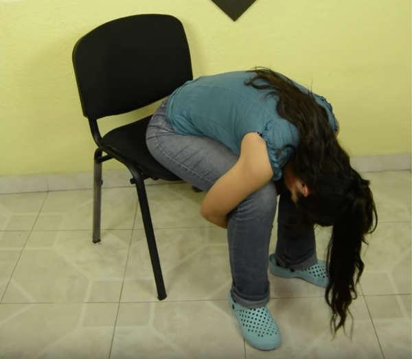 ejercicios para la respiración silla