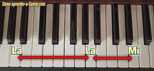 octava mas quinta piano teclado