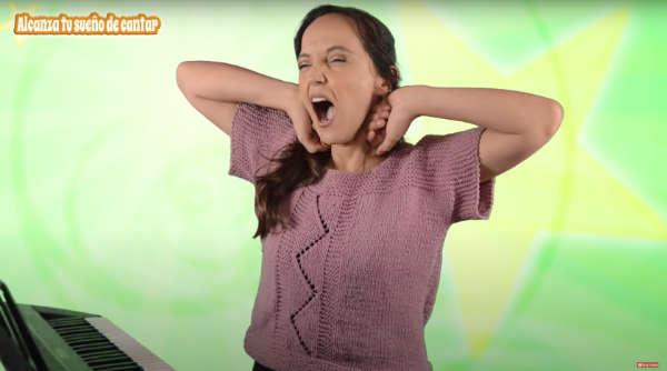 cantar bien ejercicio bostezo