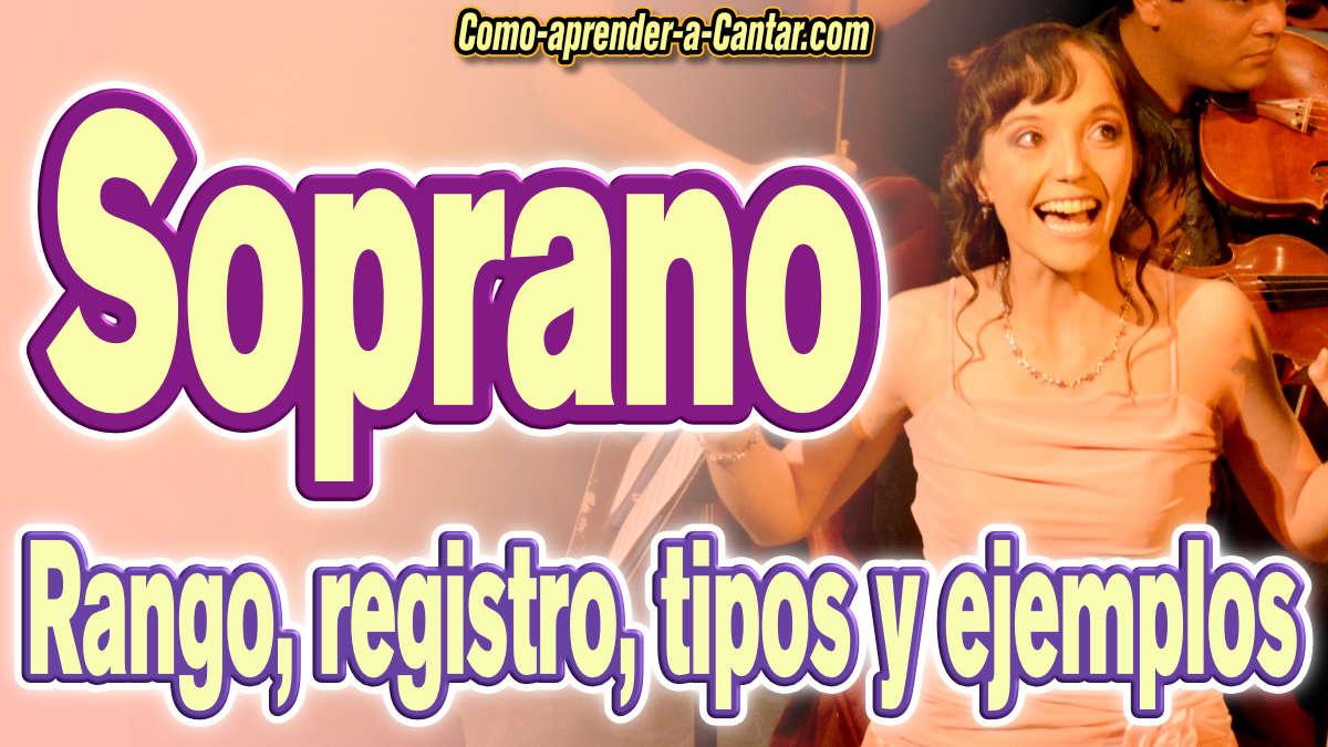 voz soprano registro tipos notas