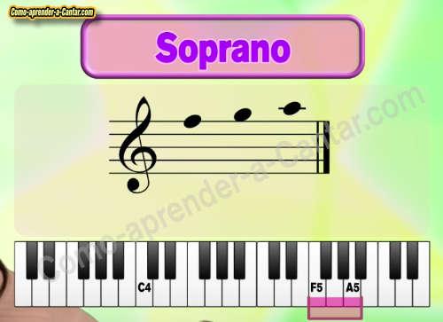 notas soprano tipo de voz